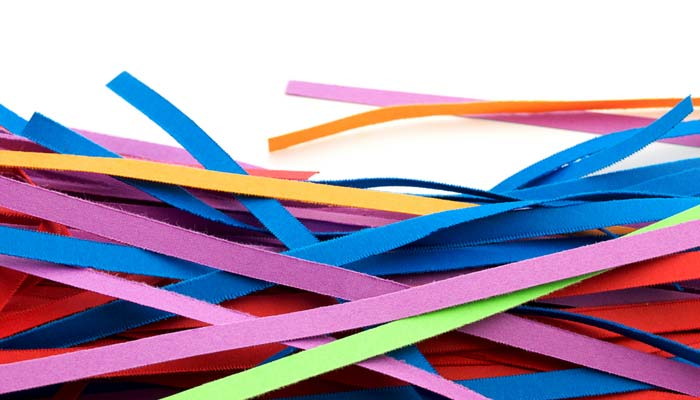 Cut the strips of paper