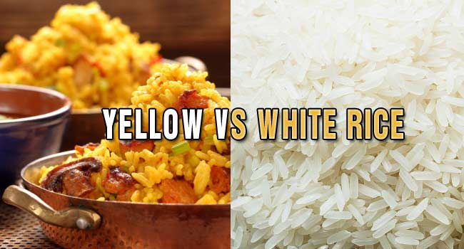 Uses of Yellow vs. White Rice
