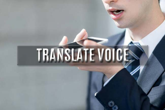 translate your voice
