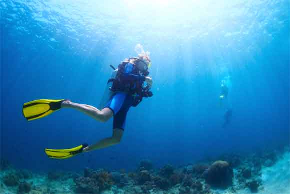 Factors on which the time depends to learn scuba dive
