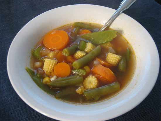 How to prepare vegetable soup