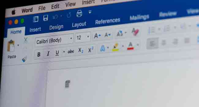 Microsoft Word With A New Version Of OS