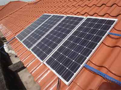 Efficiency calculation of solar cell