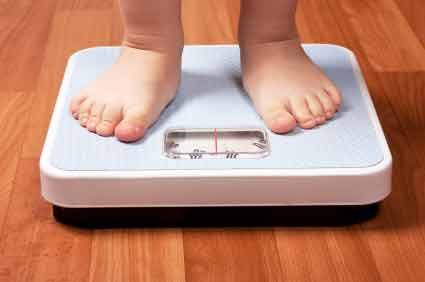 How can you read the digital weight scale readings